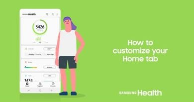 Samsung Health: How to customize your Home tab