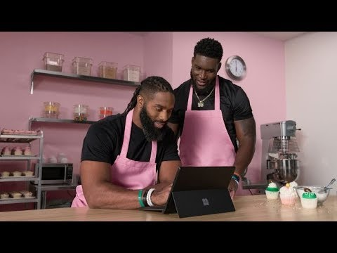 Surface Pro 6 | NFL Teammates & Cupcake Shop Owners (Extended Version)