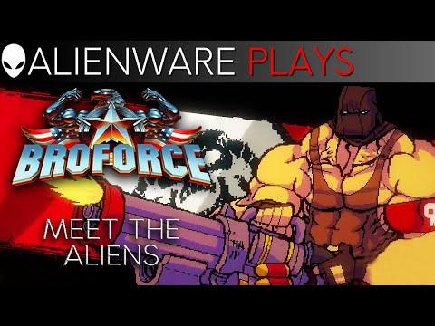 Broforce Gameplay on Alienware Aurora Gaming PC - Meet the Aliens Episode 1