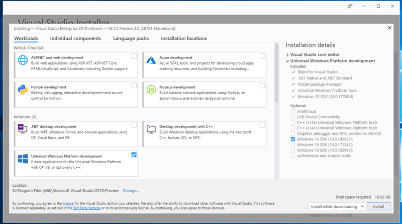 Start developing on Windows 10 May 2019 Update today