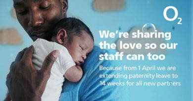 O2 extends paid paternity leave to  14 weeks