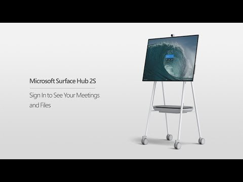 Microsoft Surface Hub 2S | Sign In To See Your Meetings and Files