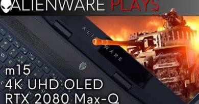 Alienware m15 4k OLED Gaming Laptop - Battlefield V Gameplay (RTX 2080 Max-Q)
