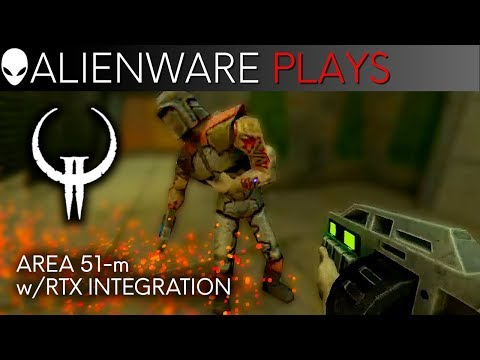 Quake 2 Gameplay on Alienware Area-51m Gaming Laptop with NVIDIA GeForce RTX 2080