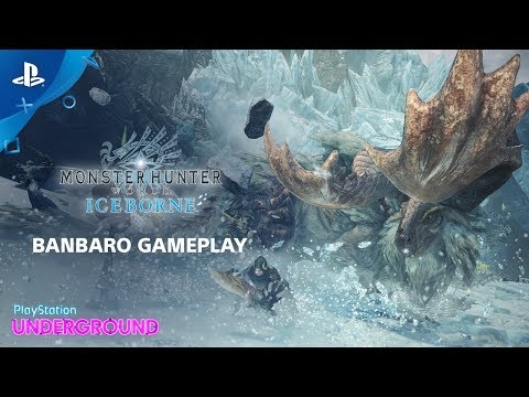 Monster Hunter World: Iceborne - Banbaro Gameplay | PlayStation Underground