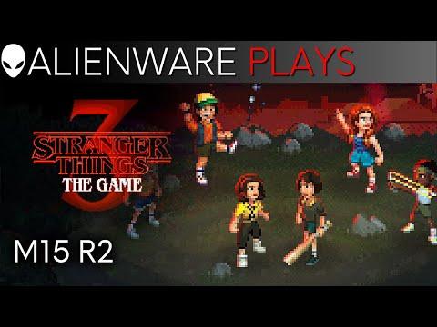 Stranger Things 3: The Game on Alienware M15 R2 Gaming Laptop