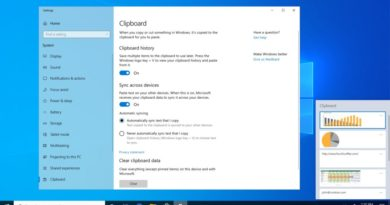 Windows 10 Tip: Clipboard