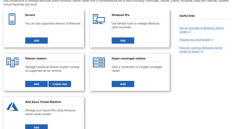 Windows Admin Center Preview 1908