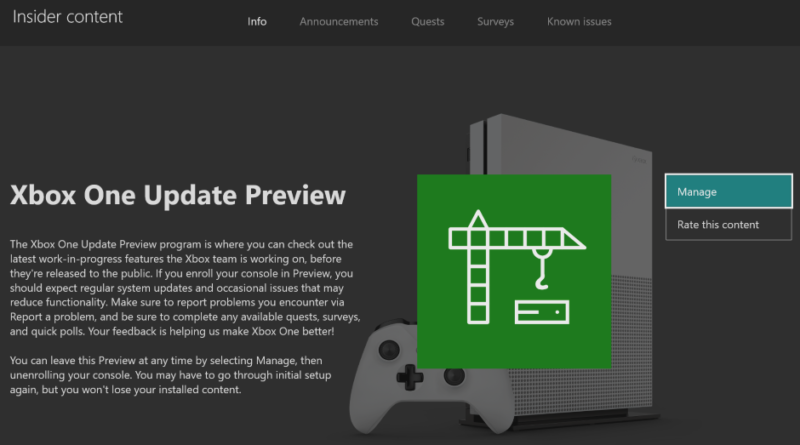 October 2nd Xbox Insider Release Notes – Alpha Ring (1911.190930-1945)