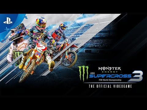 Monster Energy Supercross - The Official Videogame 3 - Announcement Trailer   PS4