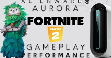 Aurora R9 - Fortnite Chapter 2 on the AW 34 inch Curved Monitor