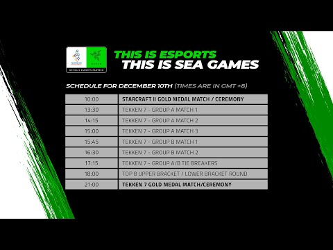 [LIVE] Esports @ SEA Games 2019 – Day 6: Gold Medal Matches for Tekken 7 and Starcraft 2