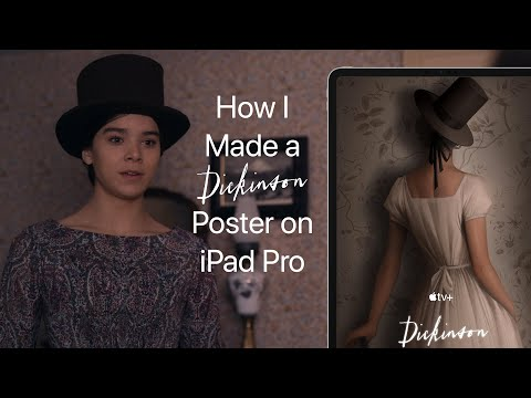 Apple TV+ — How I Made a Dickinson Poster on iPad Pro — Apple