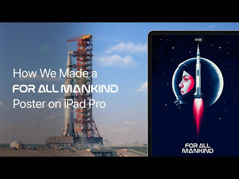 Apple TV+ — How We Made a For All Mankind Poster on iPad Pro — Apple