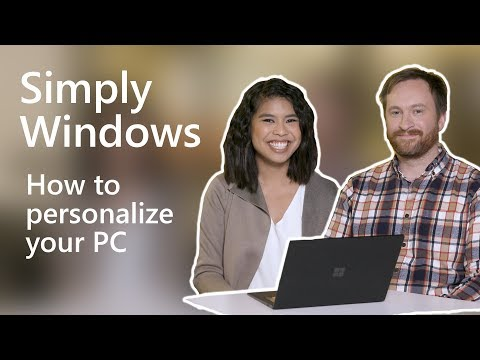 How to personalize your PC