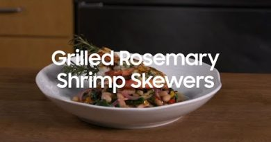 Samsung Pro Range: Grilled Rosemary Shrimp Skewers recipe created by CIA
