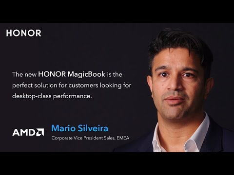 See what Mario from AMD says about HONOR MagicBook