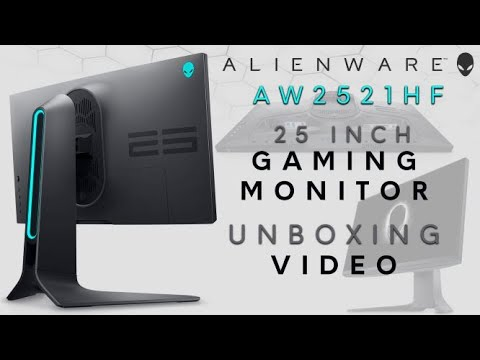 "Unboxing: New Alienware 25"" Gaming Monitor"
