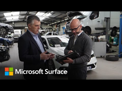 Groupe Renault uses Surface Pro to deliver value, build trust, improve customer experience