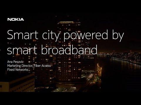 Smart city powered by smart broadband