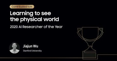 [SAIF 2020] Day 1: AI Researcher of the Year - Jiajun Wu | Samsung