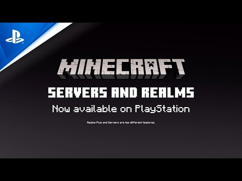 Minecraft - Servers and Realms Launch Trailer | PS4