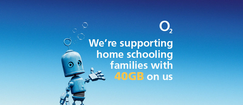 O2 provides 40GB free data to support hardest hit home schooling families