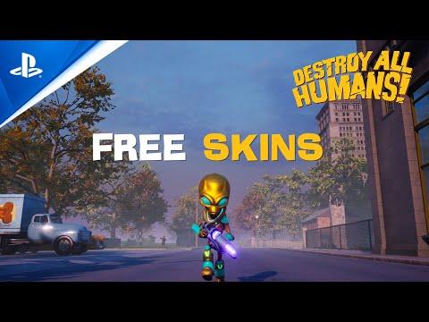 Destroy All Humans! - Free Skins Trailer | PS4