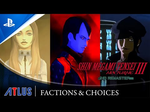 Shin Megami Tensei III Nocturne HD Remaster – Faction & Choices Trailer | PS4