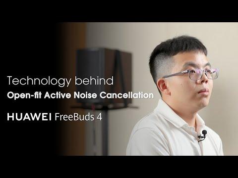 HUAWEI FreeBuds 4 – Open-fit ANC Technology