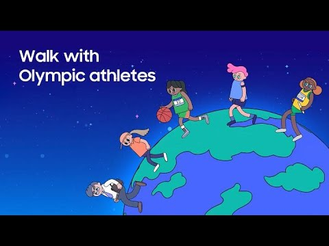 Samsung x IOC 's #StrongerTogether Challenge: Walk with Olympic athletes