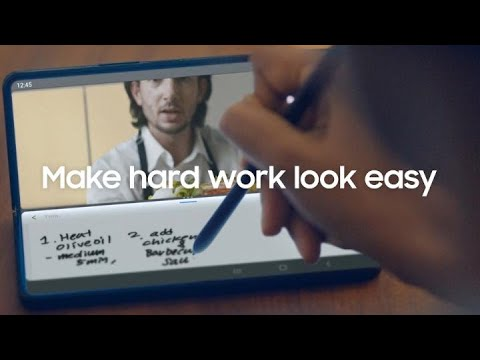 Galaxy Z Fold3 5G: Make hard work look easy with the S Pen | Samsung