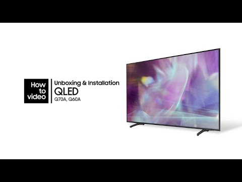 How to unbox and install the QLED | Samsung