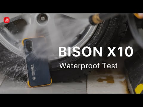 UMIDIGI BISON X10 VS High-pressure Water Gun: Waterproof Test